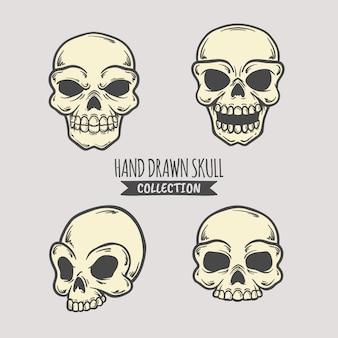 Hand getrokken schedel collectie