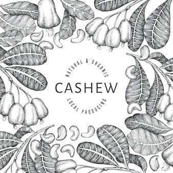 Hand getrokken schets cashew ontwerp