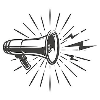 Hand getrokken schets megafoon