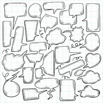 Hand getrokken schets tekstballon decorontwerp