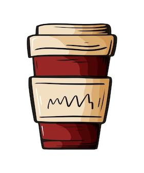 Hand getrokken schets van drankje voor café-menu