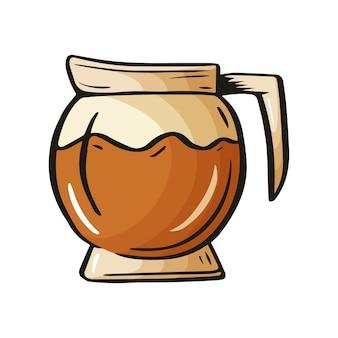Hand getrokken schets van drankje voor cafémenu, restaurantposters