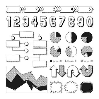 Hand getrokken school infographic elementen