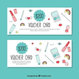 Hand getrokken schoonheid coupons