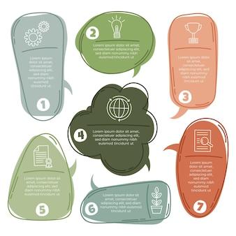 Hand getrokken spraak bubbels infographics