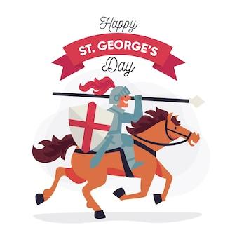 Hand getrokken st. george's day illustratie