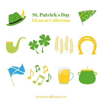 Hand getrokken st. patrick's day element collectie