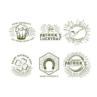 Hand getrokken st. patrick's day labelcollectie