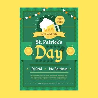 Hand getrokken st. patrick's day sjabloon folder