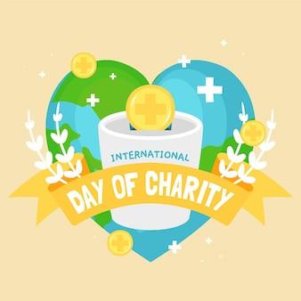 Hand getrokken stijl internationale dag van liefdadigheid