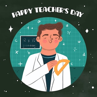 Hand getrokken stijl lerarendag