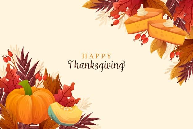 Hand getrokken stijl thanksgiving achtergrond