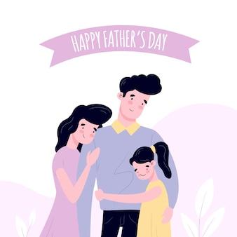 Hand getrokken stijl vaderdagevenement