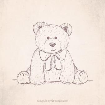 Hand getrokken teddybeer