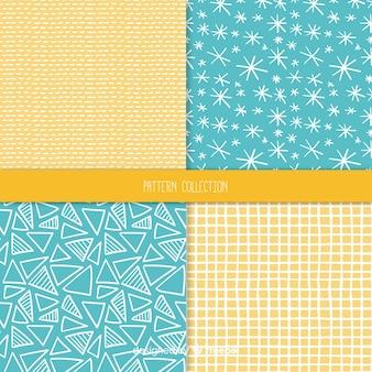 Hand getrokken textuur patroon collectie