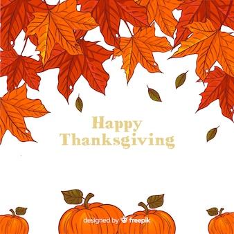 Hand getrokken thanksgiving achtergrond met herfst elementen