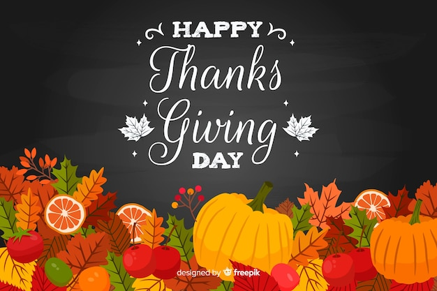 Hand getrokken thanksgiving achtergrond met herfst groenten
