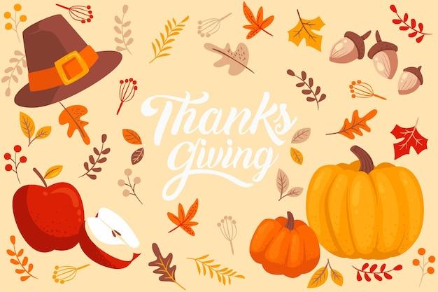 Hand getrokken thanksgiving achtergrond