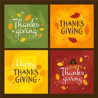 Hand getrokken thanksgiving instagram post