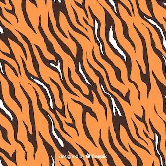 Hand getrokken tijgerprint achtergrond