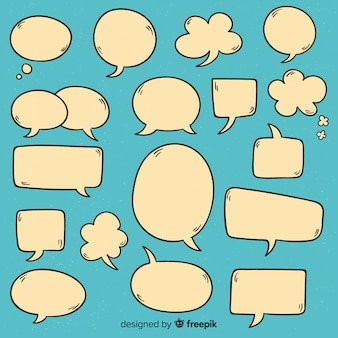 Hand getrokken toespraak bubble collectie