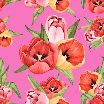 Hand getrokken tulp bloem geïsoleerd