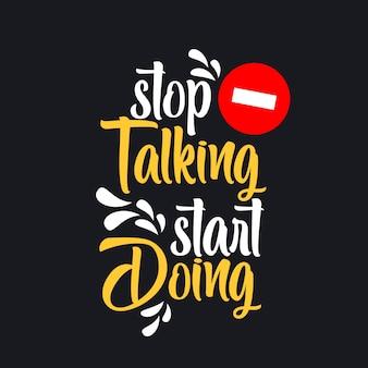 Hand getrokken typografie motiverende inspirerende citaten