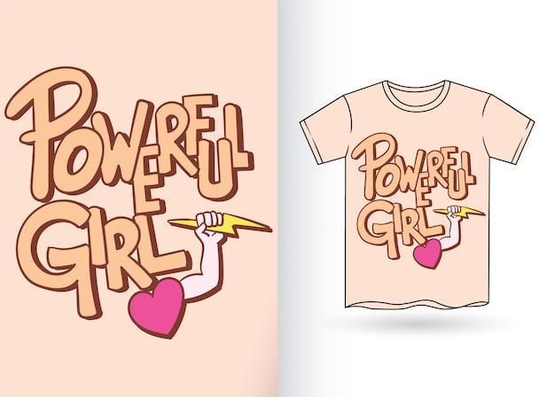 Hand getrokken typografie voor t-shirt