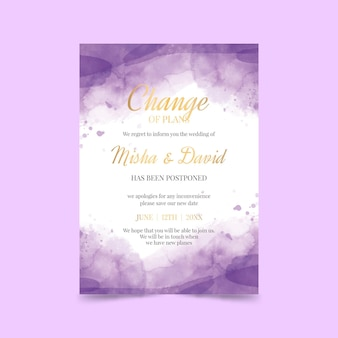 Hand getrokken uitgestelde trouwkaart