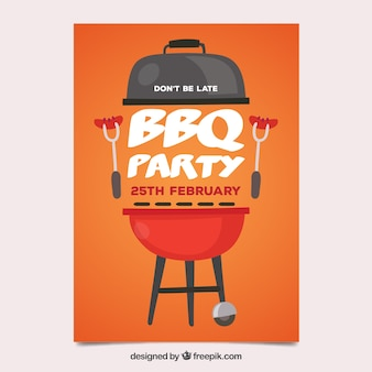 Hand getrokken uitnodiging voor de barbecue-feest