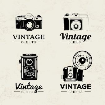 Hand getrokken uitstekende fotografie badges