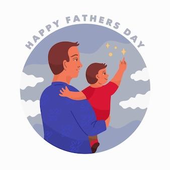 Hand getrokken vaderdag concept