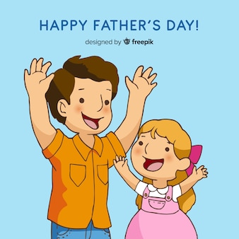 Hand getrokken vaders dag achtergrond