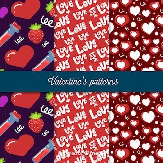 Hand getrokken valentijn patroon collectie