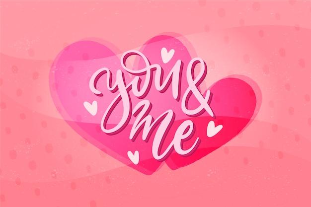 Hand getrokken valentijnsdag behang