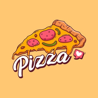 Hand getrokken van pizza