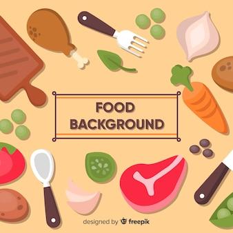 Hand getrokken voedsel achtergrond