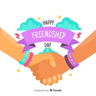 Hand getrokken vriendschap dag achtergrond