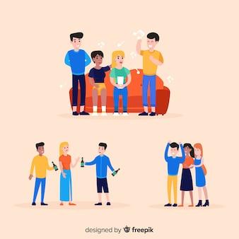 Hand getrokken vriendschap dag illustraties