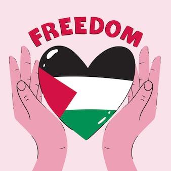 Hand getrokken vrijheid illustratie