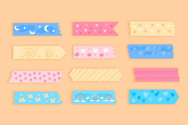 Hand getrokken washi tape-collectie