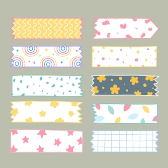 Hand getrokken washi tape set