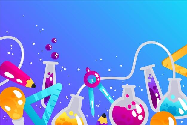 Hand getrokken wetenschappelijk onderwijs behang