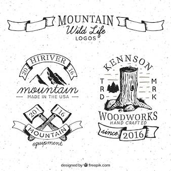 Hand getrokken wild leven logos