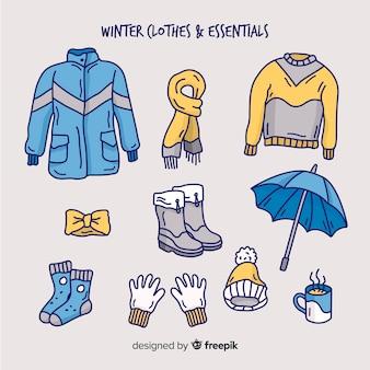 Hand getrokken winter outfit