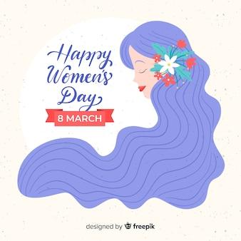 Hand getrokken women's day achtergrond