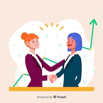 Hand getrokken zakelijke deal concept