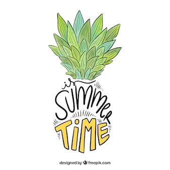 Hand getrokken zomer citaat ontwerp