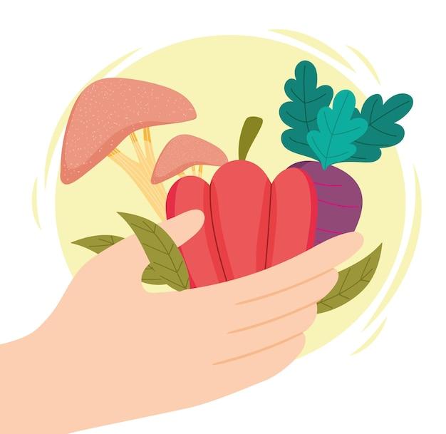 Hand gezond eten