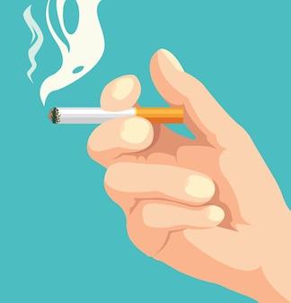 Hand houden sigaret roken doodt illustratie